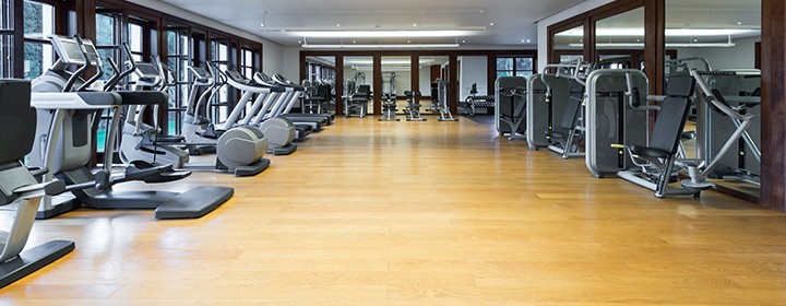 Leisure centre and gym flooring