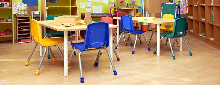 Commercial school flooring